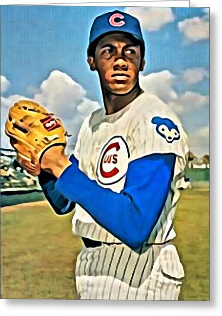 Red Sox Vintage Poster Greeting Cards - Fergie Jenkins Greeting Card by Florian Rodarte