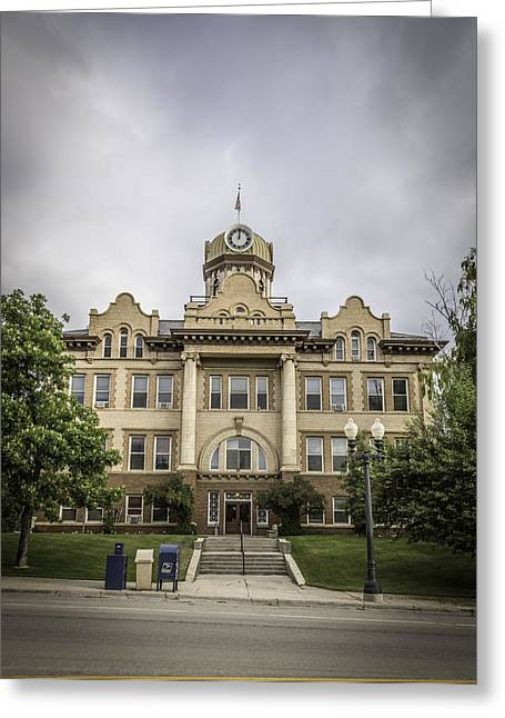 Fergus County Courthouse Greeting Card by Thomas Young