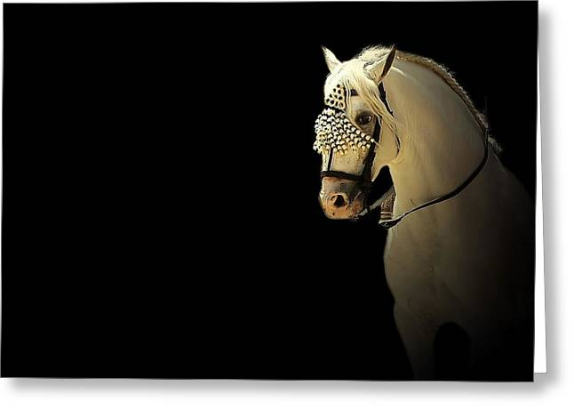 Race Horse Mixed Media Greeting Cards - Feria 4 - Collection Greeting Card by Andy Armfield