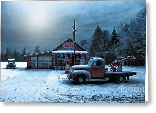 Historic Country Store Greeting Cards - Ferlands Motor Company 1042b Greeting Card by Joseph Marquis