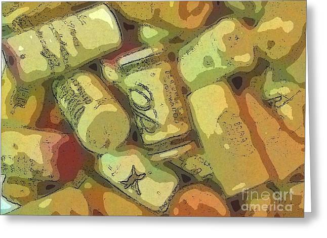 Sauvignon Digital Art Greeting Cards - Fermented Memories Greeting Card by Andooga Design