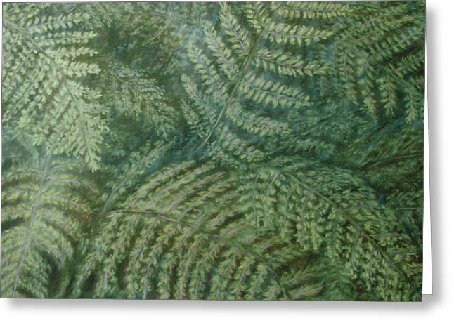 Fern Frenzy Greeting Card by Joann Renner