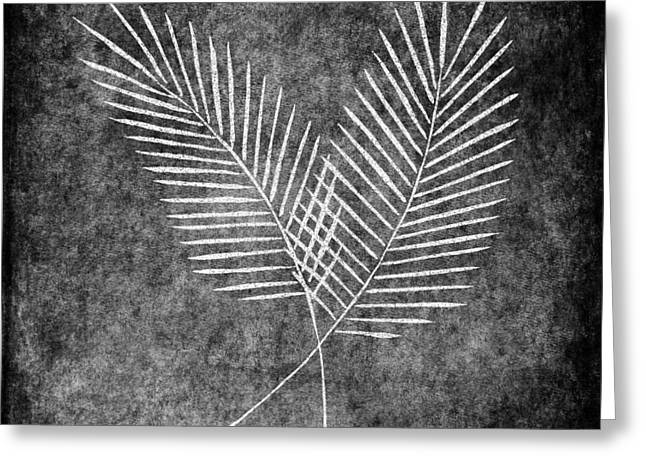 Pen And Ink Drawing Greeting Cards - Fern Simple Greeting Card by Brenda Bryant