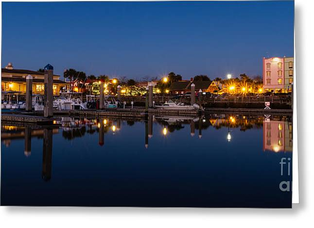 Beach At Night Greeting Cards - Fernandina Beach Skyline Amelia Island Florida Greeting Card by Dawna  Moore Photography