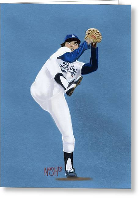 Cy Young Digital Greeting Cards - Fernandomania  Greeting Card by Jeremy Nash