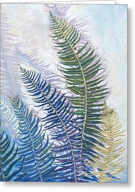 Birdseye Greeting Cards - Ferns Greeting Card by Nick Payne