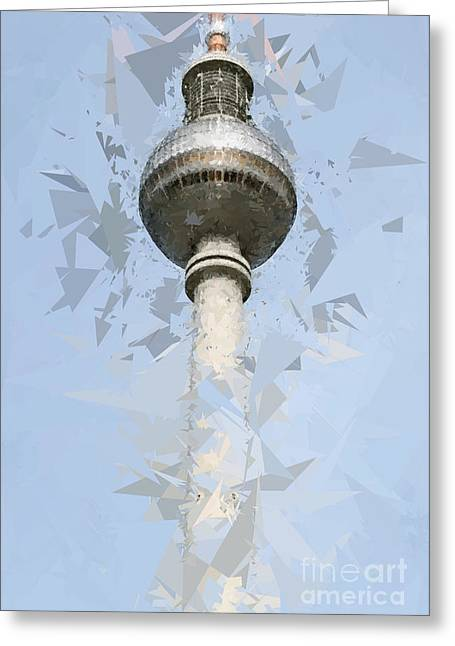 Emergence Greeting Cards - Fernsehturm Berlin Greeting Card by Design Windmill