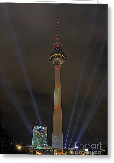 Festival Of Light Greeting Cards - Fernsehturm Tv Tower, Berlin Greeting Card by Ingo Schulz