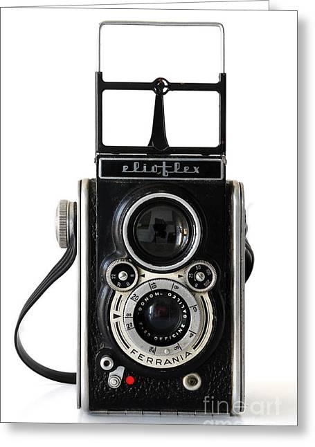 Galileo Greeting Cards - Ferrania Elioflex camera Greeting Card by RicardMN Photography