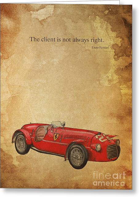 Andretti Greeting Cards - Ferrari 166S Greeting Card by Pablo Franchi
