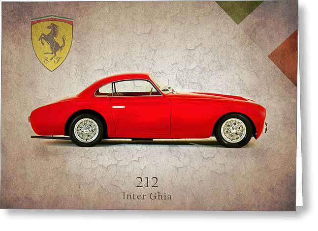 Transport Greeting Cards - Ferrari 212 Inter Ghia Greeting Card by Mark Rogan