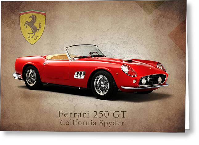 Spyder Greeting Cards - Ferrari 250 GT Greeting Card by Mark Rogan