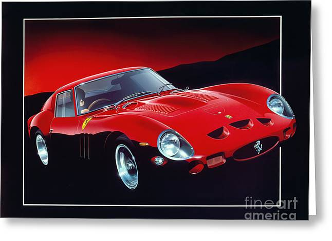 80s Greeting Cards - Ferrari 250 GTO Greeting Card by Gavin Macloud