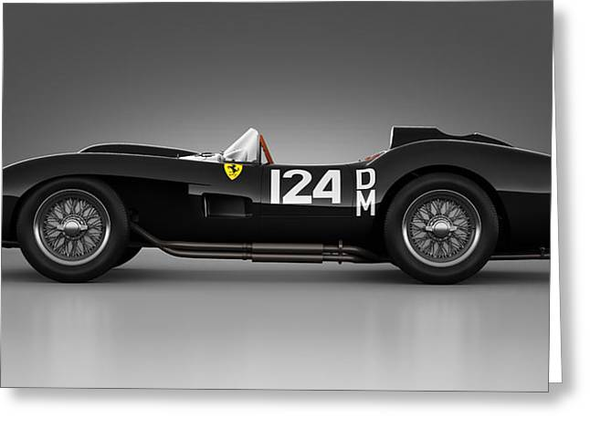 Stylish Car Greeting Cards - Ferrari 250 Testa Rossa - Rosette Greeting Card by Marc Orphanos