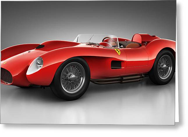 Stylish Car Greeting Cards - Ferrari 250 Testa Rossa - Spirit Greeting Card by Marc Orphanos