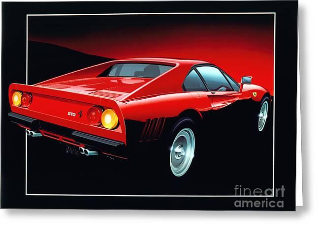 80s Greeting Cards - Ferrari 288 GTO  Greeting Card by Gavin Macloud