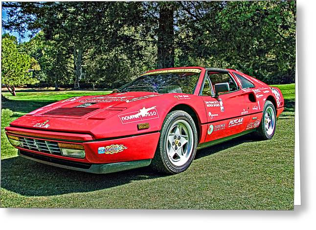 Ferrari 328 Spyder Greeting Card by Samuel Sheats