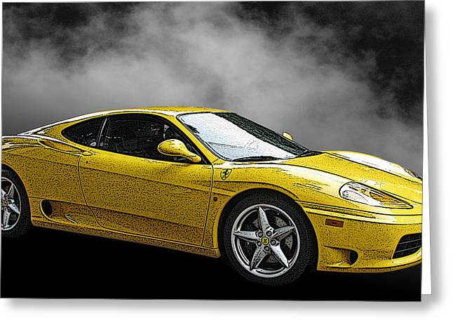 Ferrari 360 Modena Side View Greeting Card by Samuel Sheats