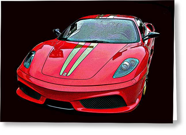 Sheats Greeting Cards - Ferrari 430 Scuderia Greeting Card by Samuel Sheats