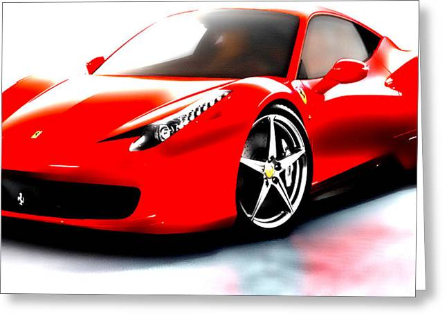 Australian Open Mixed Media Greeting Cards - Ferrari 458 Greeting Card by Brian Reaves