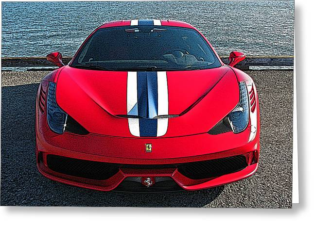 Ferrari 458 Speciale Greeting Card by Samuel Sheats