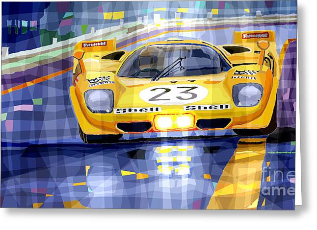 Bell Greeting Cards - Ferrari 512 S SPA 1970 Derek Bell  Greeting Card by Yuriy  Shevchuk