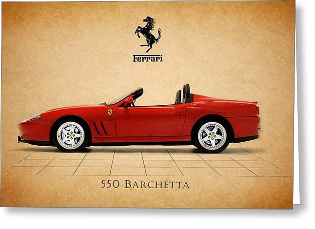Car Greeting Cards - Ferrari 550 Barchetta Greeting Card by Mark Rogan