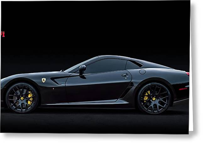 Auto Greeting Cards - Ferrari 599 GTB Fiorano Greeting Card by Douglas Pittman