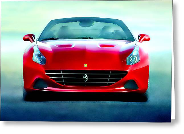 Australian Open Mixed Media Greeting Cards - Ferrari California Greeting Card by Brian Reaves