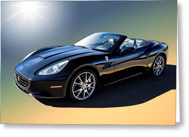 Garage Greeting Cards - Ferrari California Greeting Card by Douglas Pittman