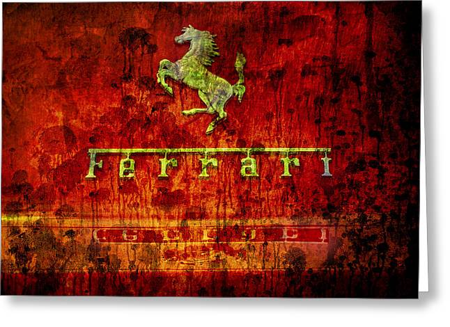 Rusted Cars Digital Art Greeting Cards - Ferrari Decompo Greeting Card by Greg Sharpe