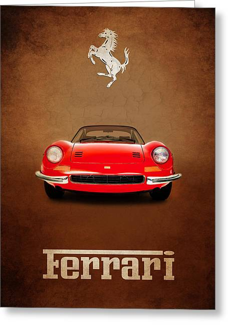 Dino Greeting Cards - Ferrari Dino 246GT Greeting Card by Mark Rogan