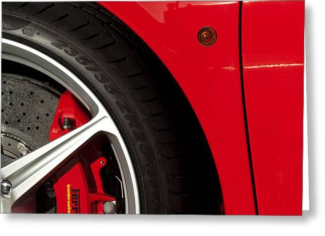 Ferrari Emblem 3 Greeting Card by Jill Reger