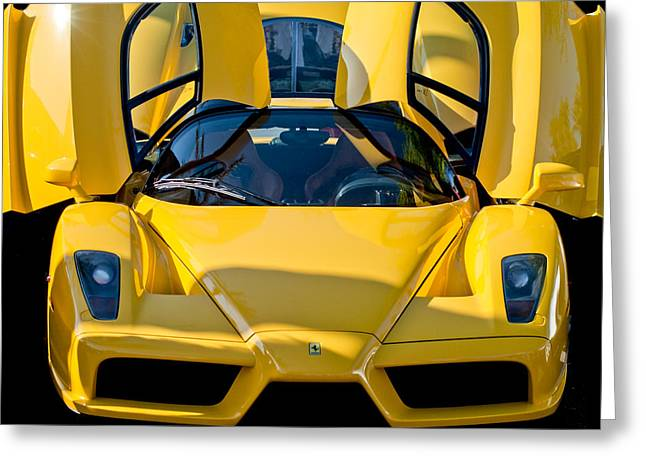 Italian Marque Greeting Cards - Ferrari Enzo Greeting Card by Jill Reger