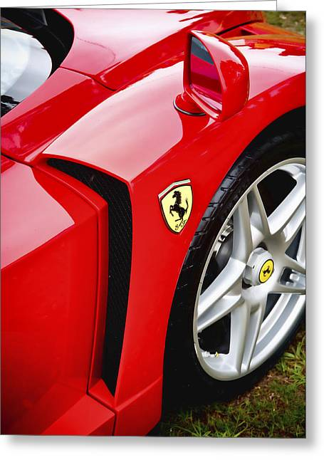 Phil Motography Clark Greeting Cards - Ferrari Enzo Greeting Card by Phil
