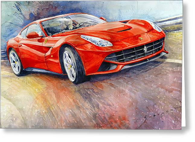Ferrari F12 Berlinetta 2014 Greeting Card by Yuriy Shevchuk