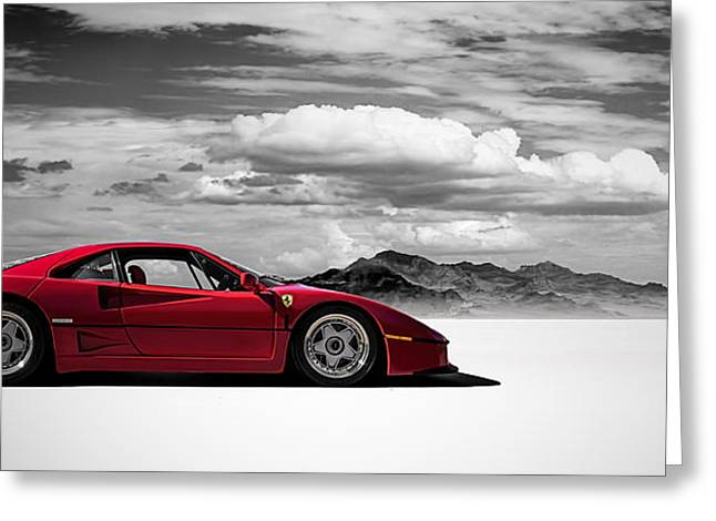 Red Digital Art Greeting Cards - Ferrari F40 Greeting Card by Douglas Pittman