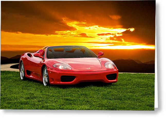 Rally Greeting Cards - Ferrari F430 at Dusk Greeting Card by Dave Koontz
