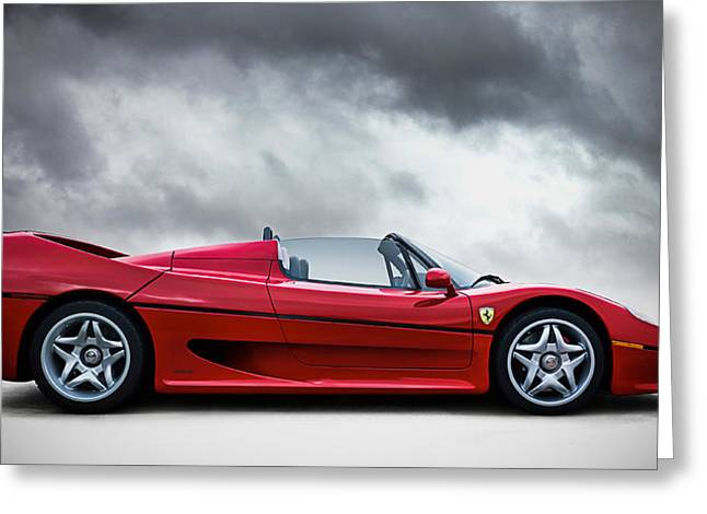 Auto Greeting Cards - Ferrari F50 Greeting Card by Douglas Pittman