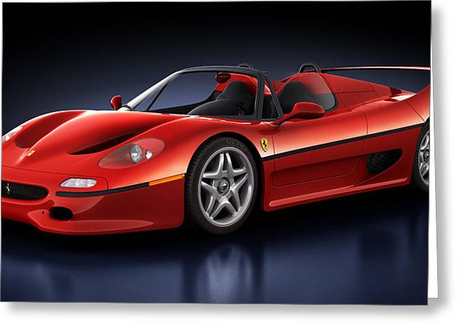Super Real Greeting Cards - Ferrari F50 - Phantasm Greeting Card by Marc Orphanos
