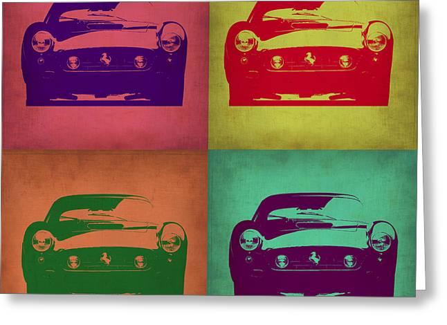 Old Digital Greeting Cards - Ferrari Front Pop Art 1 Greeting Card by Naxart Studio