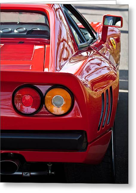 Ferrari Gto Classic Car Greeting Cards - Ferrari GTO 288 Taillight -0631c Greeting Card by Jill Reger