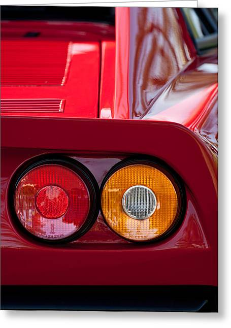 Ferrari Gto Classic Car Greeting Cards - Ferrari GTO 288 Taillight -0635c Greeting Card by Jill Reger