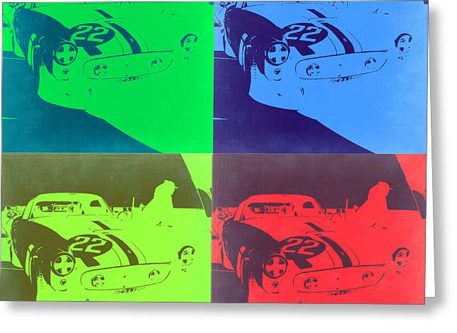 Ferrari Gto Classic Car Greeting Cards - Ferrari GTO Pop Art 2 Greeting Card by Naxart Studio