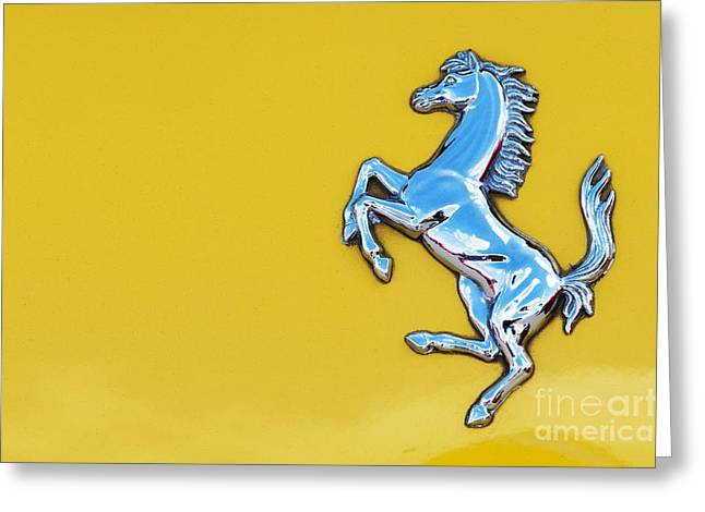 Italian Sports Cars Greeting Cards - Ferrari Horse Greeting Card by Tim Gainey