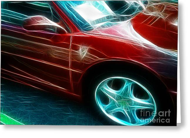 Spider-man Greeting Cards - Ferrari in red Greeting Card by Paul Ward