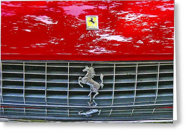 Cherish Greeting Cards - Ferrari Greeting Card by Jean Noren