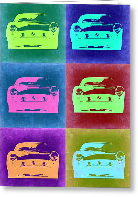 Old Digital Greeting Cards - Ferrari Pop Art 2 Greeting Card by Naxart Studio