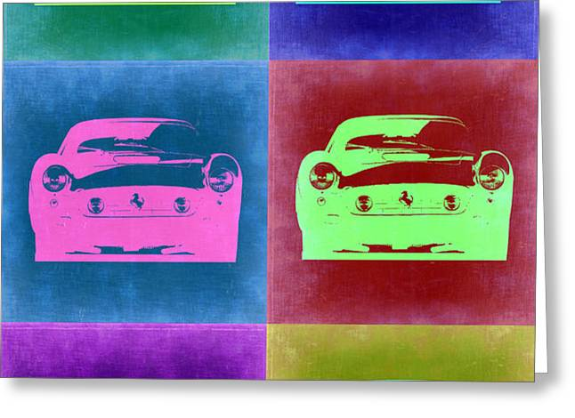 Ferrari Pop Art 2 Greeting Card by Naxart Studio