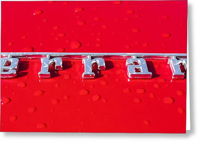 Driving Greeting Cards - Ferrari Greeting Card by Semmick Photo